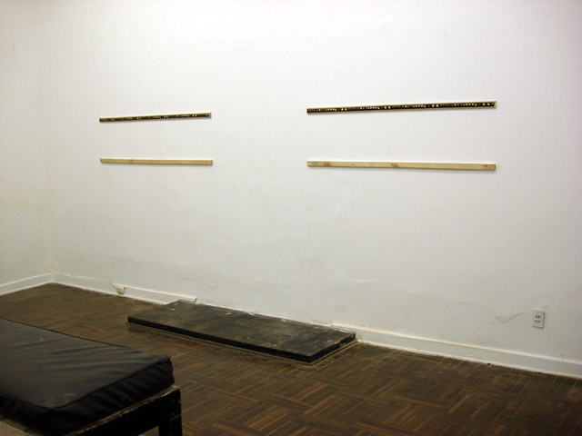 When the gallery opened, the walls were empty.