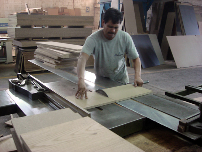 ... and in the afternoon we went back to the factory, selected the wood and started cutting the pieces.