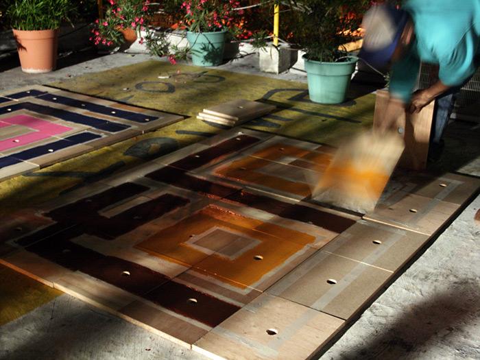 Pinte todo el dia y por la noche las piezas estaban listas.