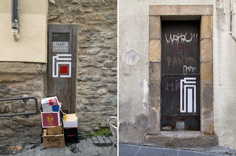 1st and 5th Paintings in the street of Vitoria