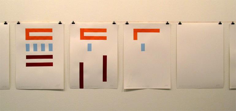 Dibujos generados por la instalación