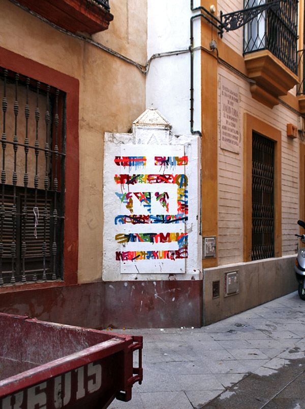 """Calle Buiza y Mensaque 3"" (painting in the street)"