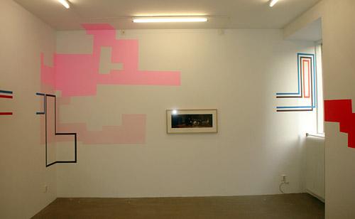 La galería justo antes de la inauguración