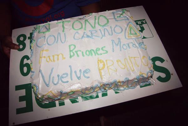 La tarta de despedida que hizo María!!!