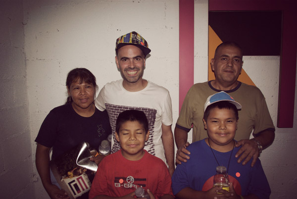 Javi's family, my neighbors!