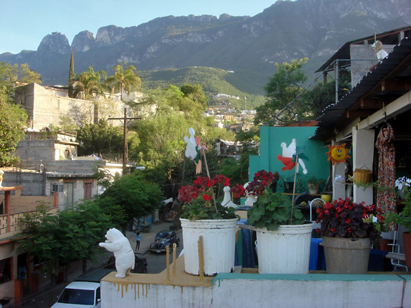 View of the Sierra Madre from the barrio