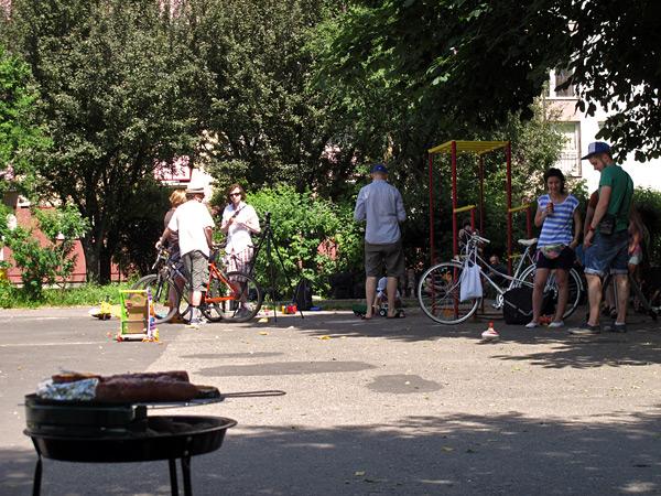 El último día, picnic de inauguración de los murales